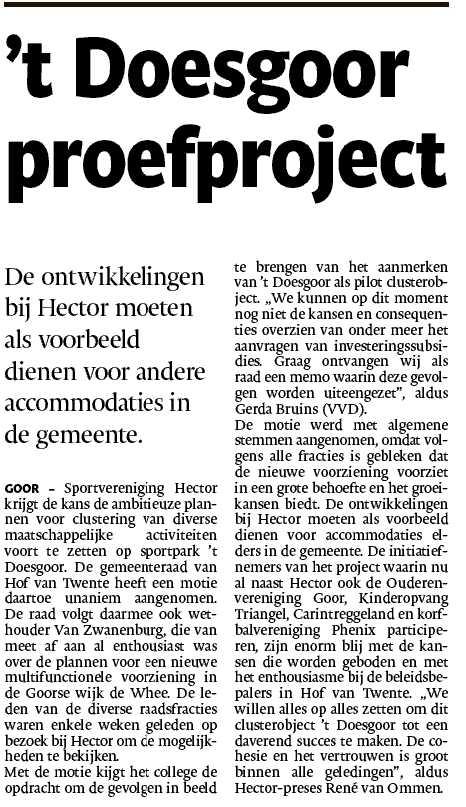 't Doesgoor proefproject